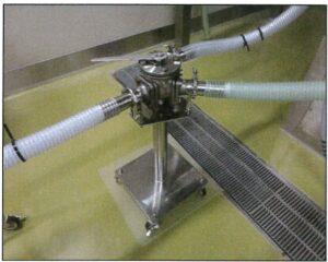 生産現場床から装置への静電対策(FGP-200)